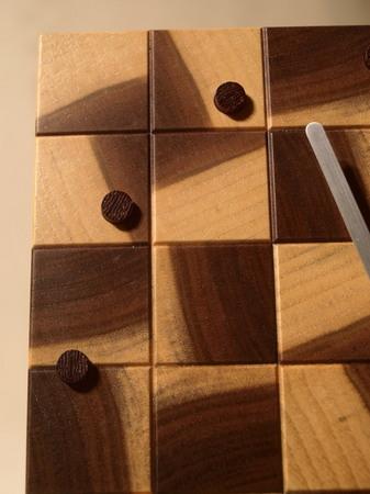 030、木口寄木の時計「つむぎ」ウォールナットの風車-3.jpg