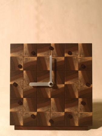 032、木口寄木の時計「つむぎ」ウォールナットの風車-4.jpg